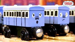 Blue Narrow Gauge Coaches   Custom Thomas Wooden Railway Model #18 by DomelessEngine