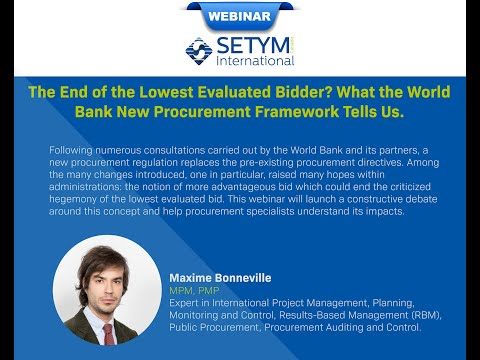 SETYM Webinar: The end of the lowest evaluated bidder? World ...
