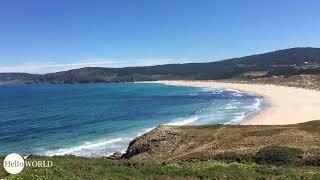 Aussicht hinter dem Praia do Rosto