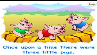 Short Animated Story - Three Little Pigs (English)