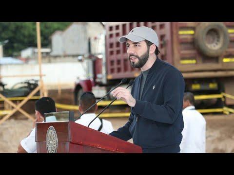 Presidente Nayib Bukele Participa en Inauguración, Desde Santa Ana