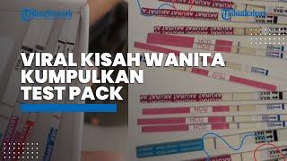 Viral Video Kisah Wanita Asal Sukabumi Kumpulkan Test Pack selama 7 Tahun, Senang Akhirnya Hamil