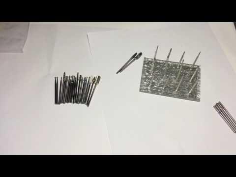 Мои рабочие фрезы для аппаратного маникюра