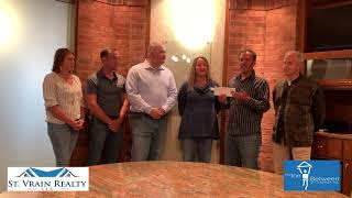 St. Vrain Realty Donates over $4000.00 to The Inn Between of Longmont
