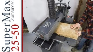 My Drum Sander & How it Works!  SuperMax 25-50  Huge Capacity!