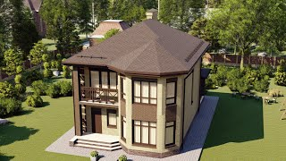 Проект дома 147-F, Площадь дома: 147 м2, Размер дома:  8,7x12,3 м