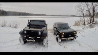 Jeep wrangler vs Нива. Offroad зимой