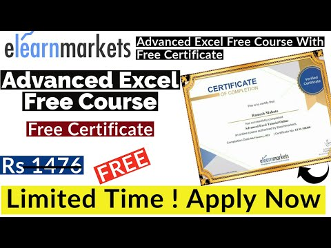 Advanced Excel Free Course With Free Certificate - YouTube