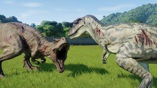 Albertosaurus VS T-Rex 1.8.1 - Jurassic World Evolution