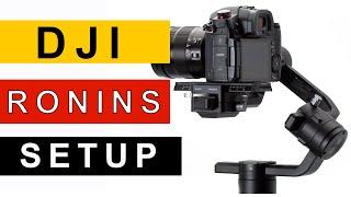 DJI Ronin S Setup Guide And Balance Tutorial Plus External Monitor Setup