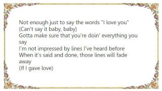 Chanté Moore - If I Gave Love Lyrics
