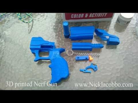 Perp Gun (3D Printed Nerf Gun). by Nick_Iacobbo. Thingiview