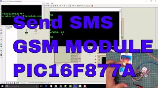 send sms using gsm module and pic microcontroller