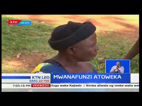 Mtahiniwa wa shule ya upili Martin Odhiambo adaiwa kutekwa nyara jioni wa kuamkia leo