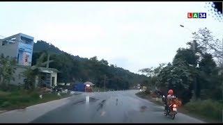 Camera nóng | Xế nữ đạp chú chó chạy băng qua đường để tránh tai nạn | LONG AN TV
