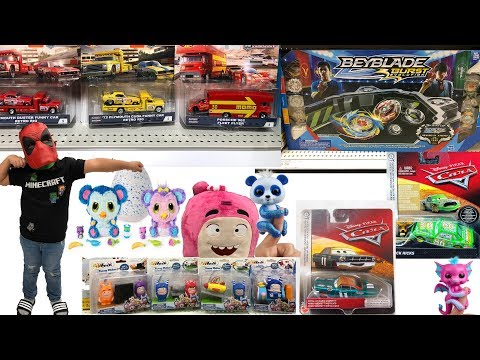 Disney Cars Scavenger Hunt TOY HUNT Beyblade Tournament Collection HotWheeLs Team Transport