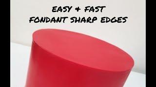 How to: Fondant super sharp edges (upside down panel method)