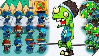 ЗОМБИ С КОПЬЕМ против СПЕЦНАЗА - Игра Swat And Zombies # 3 Андроид игры про зомби