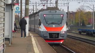 Электропоезд ЭП2Д-0011 ЦППК станция Бекасово-1 13.10.2018