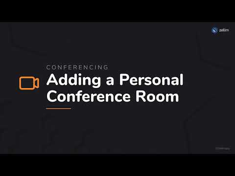 Adding a Personal Conference Room