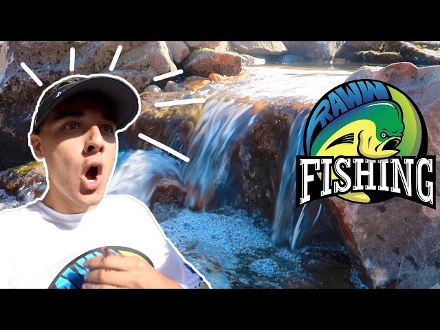 RAWW FISHING Gets AQUASCAPED with a NEW KOI POND!!!