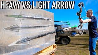 HEAVY VS LIGHT ARROW PENETRATION TEST! (BALLISTIC GEL)