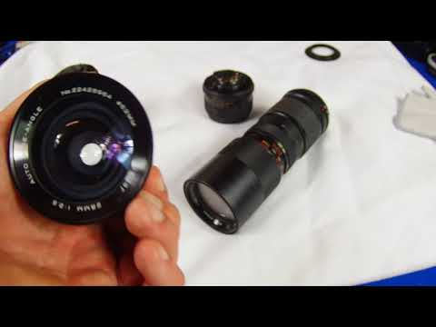 Pentax M42 screw mount lens review 50mm 55mm 135mm 28mm