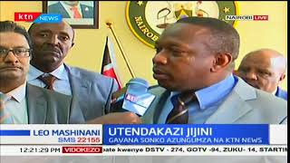 Governor Mike Sonko on what he is doing for Nairobi County