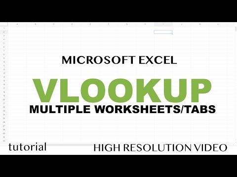 Excel - VLOOKUP with Multiple Worksheets - Tutorial
