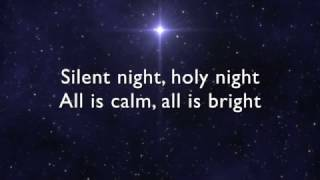 Silent Night lyrics / music video - Christmas Song with words - Christmas Carol with lyrics