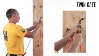 "Grivel new "" Twin Gate Carabiner "" - IN ACTION -"