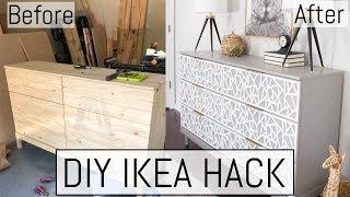 DIY IKEA Hack | TARVA Dresser Makeover