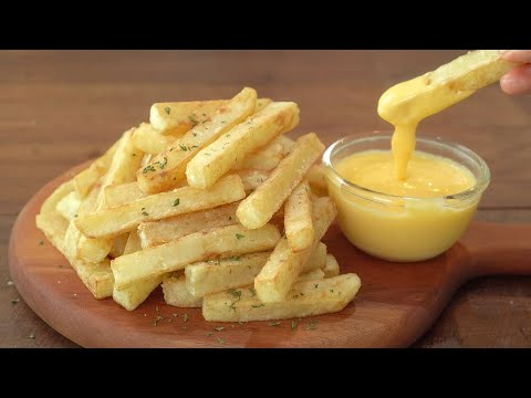 도톰한 감자튀김과 치즈소스 :: 바삭한 감자튀김 만들기 :: 감자요리 :: French fries and cheese sauce