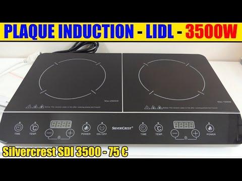 plaque induction lidl silvercrest 2 foyers double induction hob doppel-induktionskochplatte
