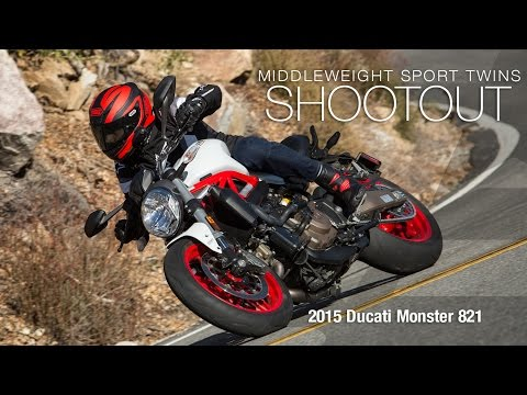 2015 Ducati Monster 821 - Sport Twins Shootout Part 2 - MotoUSA