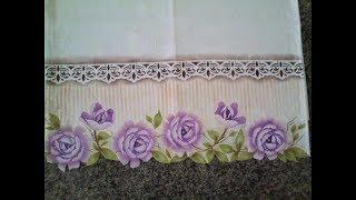 Pintura Em Tecido Com Stencil _Flor Camélia