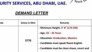 Security Guards Jobs in Spark Security Services Abu Dhabi UAE || Pakistan and Abroad Jobs