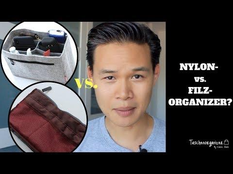 TASCHENORGANIZER GUIDE - Welches Material ist besser? Nylon vs. Filz-Organizer!