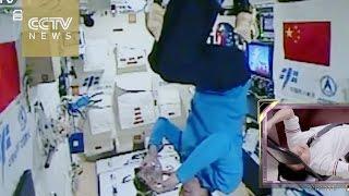 Video: Shenzhou-11 astronauts put the 'tea' in Tiangong-2