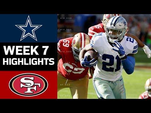 Cowboys vs. 49ers | NFL Week 7 Game Highlights