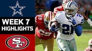 Cowboys vs. 49ers | NFL Week 7 Game Highlights