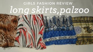 New Long Skirts Design, Palazzo Design|skirts,palazzo Full Review In Hindi|girls Fashion Review 2018
