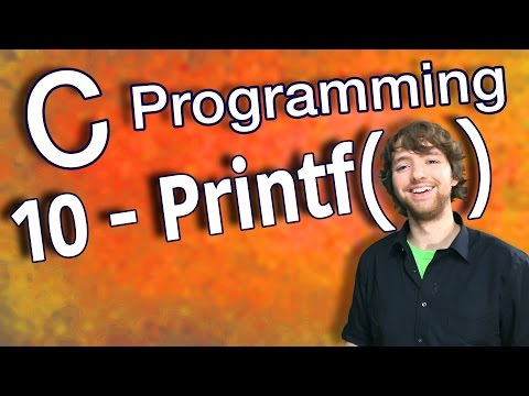 C Programming Tutorial 10 – C Basics Part 2 – Print Variables Using Printf