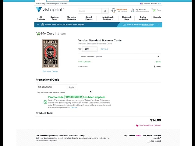 How To Get Free Shipping Vistaprint