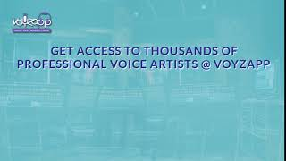 Voyzapp - Browse professional voice actors, listen, compare prices and hire