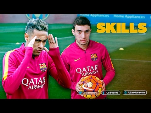 Munir and Neymar Jr shows off skills during training session