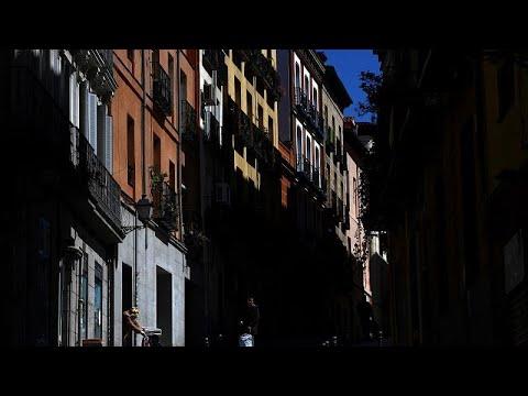 «Νεκρική σιγή» στους άλλοτε γεμάτους δρόμους της Μαδρίτης…