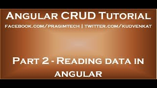 Reading data in angular