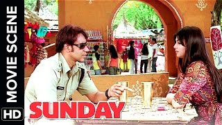 Ajay Devgn Takes Ayesha Takia On A Date  Sunday  Movie Scene  Comedy