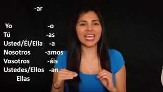 Learn Spanish, Verbs Conjugation Regular Present Tense -ar, -er, -ir